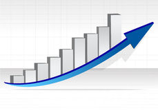 Business graph. Business success illustration Stock Photos