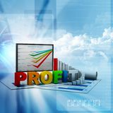 Business graph and chart. In abstract background Royalty Free Stock Photos
