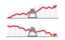 Business graph and chart. Swaying the business situation Royalty Free Stock Images