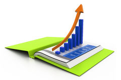 Business graph in chart. 3d Business graph in chart Stock Photography