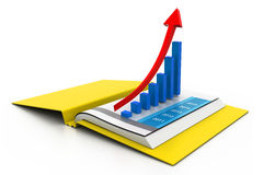 Business graph in chart. 3d Business graph in chart Stock Photos