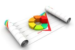 Business graph in chart. 3d illustration of  business graph in chart Stock Images