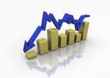 Business graph, chart, diagram vector illustration
