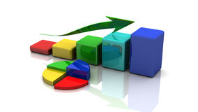 Business graph, chart, diagram, bar Stock Photos