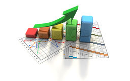 Business graph, chart, diagram, bar Stock Photography