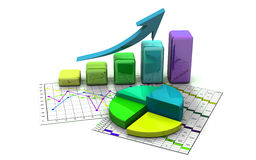 Business graph, chart, diagram, bar Royalty Free Stock Image