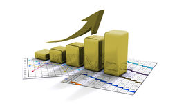 Business graph, chart, diagram, bar Royalty Free Stock Photography