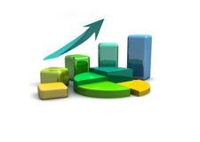 Business graph, chart, diagram, bar Stock Image