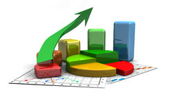 Business graph, chart, diagram, bar Royalty Free Stock Photo
