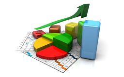 Business graph, chart, diagram, bar Stock Image