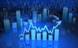 Business graph, chart, diagram, bar Royalty Free Stock Photos
