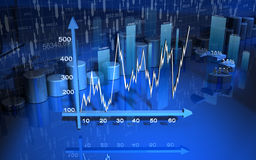 Business graph, chart, diagram, bar Royalty Free Stock Images