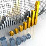 Business graph, chart, diagram, bar Royalty Free Stock Photos