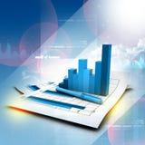 Business graph on chart. Digital illustration of Business graph on chart Royalty Free Stock Photography