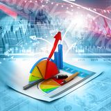 Business graph and chart. Digital illustration of Business graph and chart Stock Image