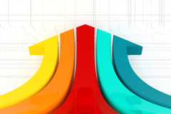Business graph and chart. Stock Image