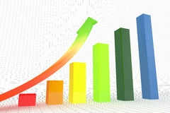 Business graph and chart. Stock Photography