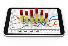 Bar chart growing Royalty Free Stock Photos
