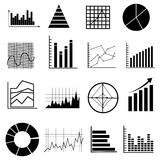 Business graph chart icons set Royalty Free Stock Photos