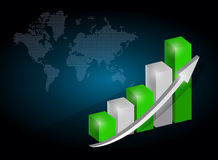 Business graph chart illustration Royalty Free Stock Image