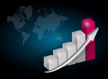 Business graph chart illustration design Royalty Free Stock Photos