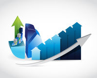 Business graph and chart illustration Royalty Free Stock Photography