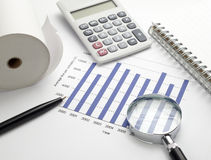 Business graph chart stock Royalty Free Stock Image