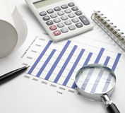 Business graph chart stock Royalty Free Stock Photo