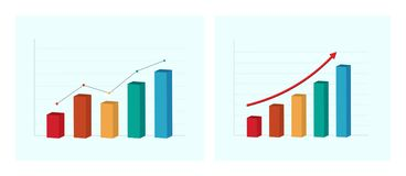 Business graph and chart. Successful concept. Vector illustration