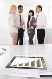 Business Graph Chart On A Table Stock Photos