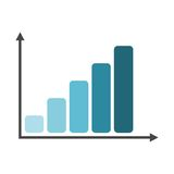 Business graph and chart. Vector icon Royalty Free Stock Photo