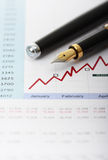 Business graph and charts Stock Images