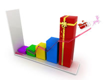 Business graph christmas Royalty Free Stock Photo