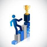 Business graph. climbing to the top. illustration Stock Photography