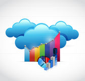 Business graph and cloud computing Stock Photography