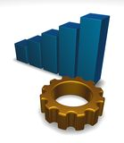 Business graph and cogwheel Stock Photography