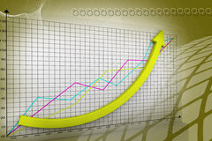 Business graph Stock Images