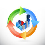 business graph color cycle illustration Stock Photography