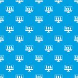 Business graph at computer screen pattern seamless blue. Business graph at computer screen pattern repeat seamless in blue color for any design. Vector geometric Royalty Free Stock Photo