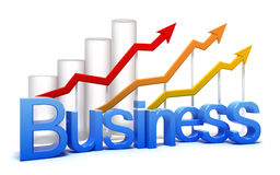 Business graph concept Stock Image