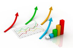 Business graph concept Royalty Free Stock Images