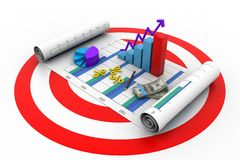 Business graph concept Royalty Free Stock Image