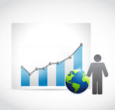Business graph concept illustration design Royalty Free Stock Image