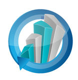 Business graph cycle illustration design Stock Photography