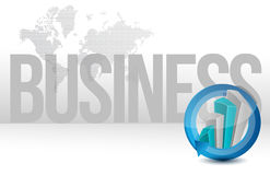 Business graph cycle world illustration design Royalty Free Stock Photo
