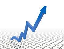 Business graph. 3d business graph concept design Royalty Free Stock Photos