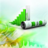 Business graph. 3d Business graph in digital design Stock Photography
