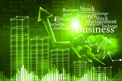 Business Graph. 3d illustration of Business Graph Royalty Free Stock Photography