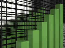 Business graph, 3D. Business graph on mirror background, 3D Royalty Free Stock Images