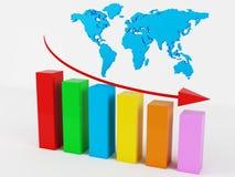 Business Graph. 3d render of Business Graph Stock Photos